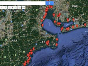 googleマイマップに釣果情報を記載する