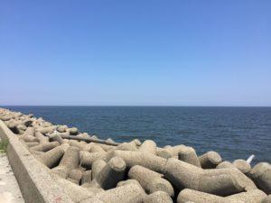 三重県津市の日本鋼管突堤