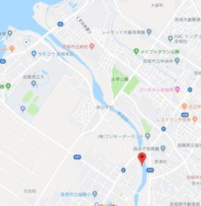 犬上川の小鮎釣りポイント