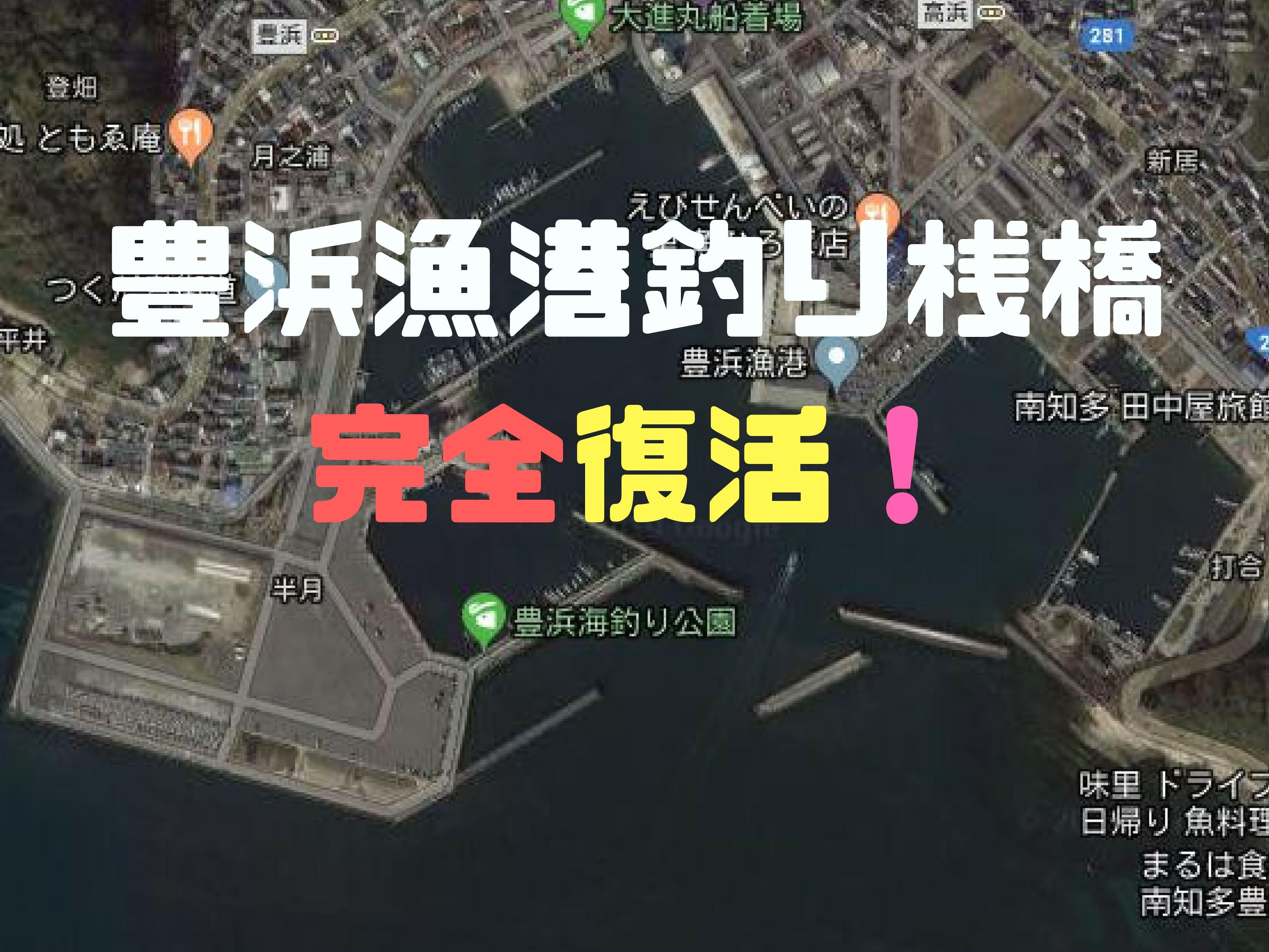 「豊浜漁港釣り桟橋」完全復活