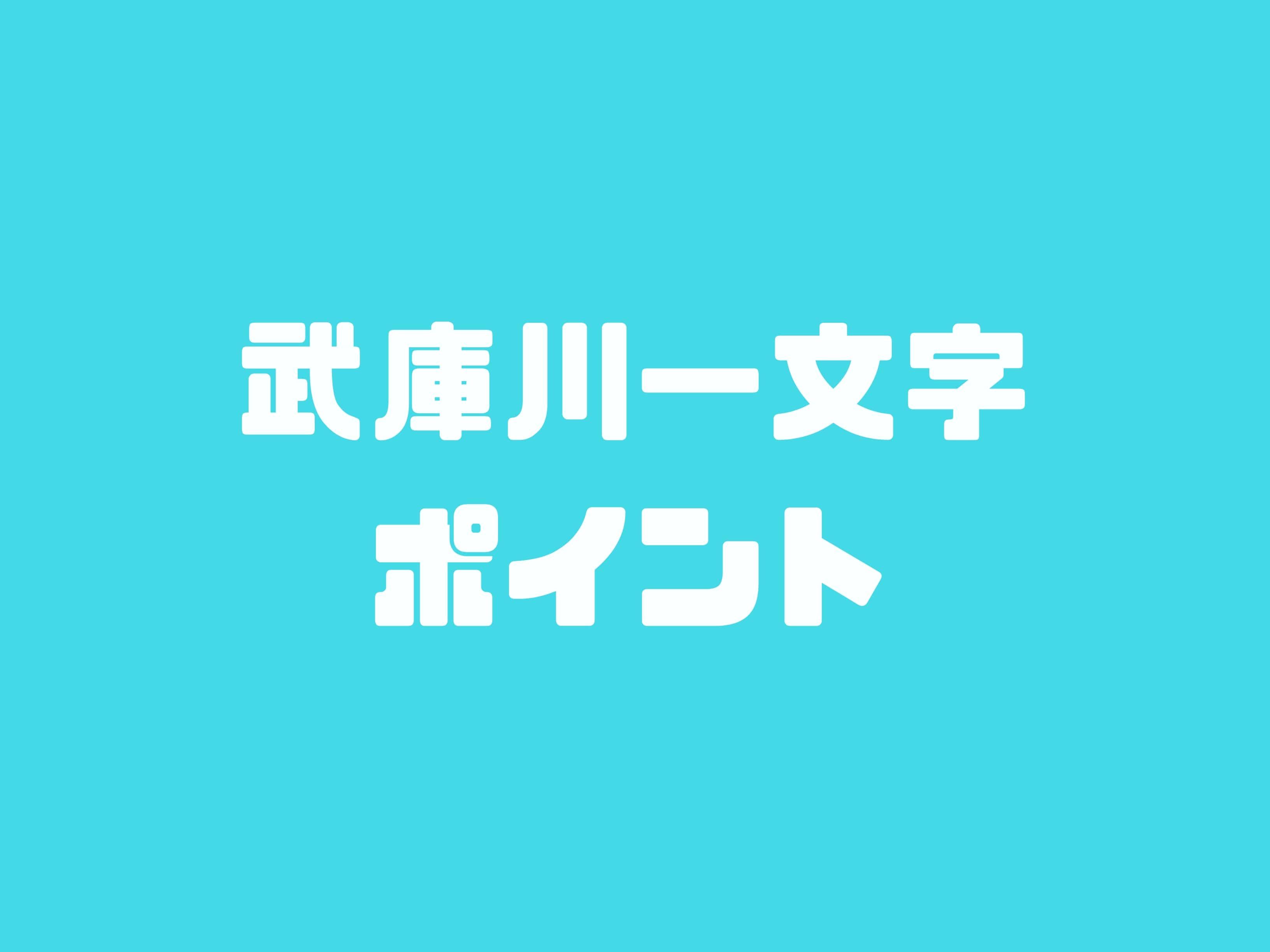 武庫川一文字ポイント