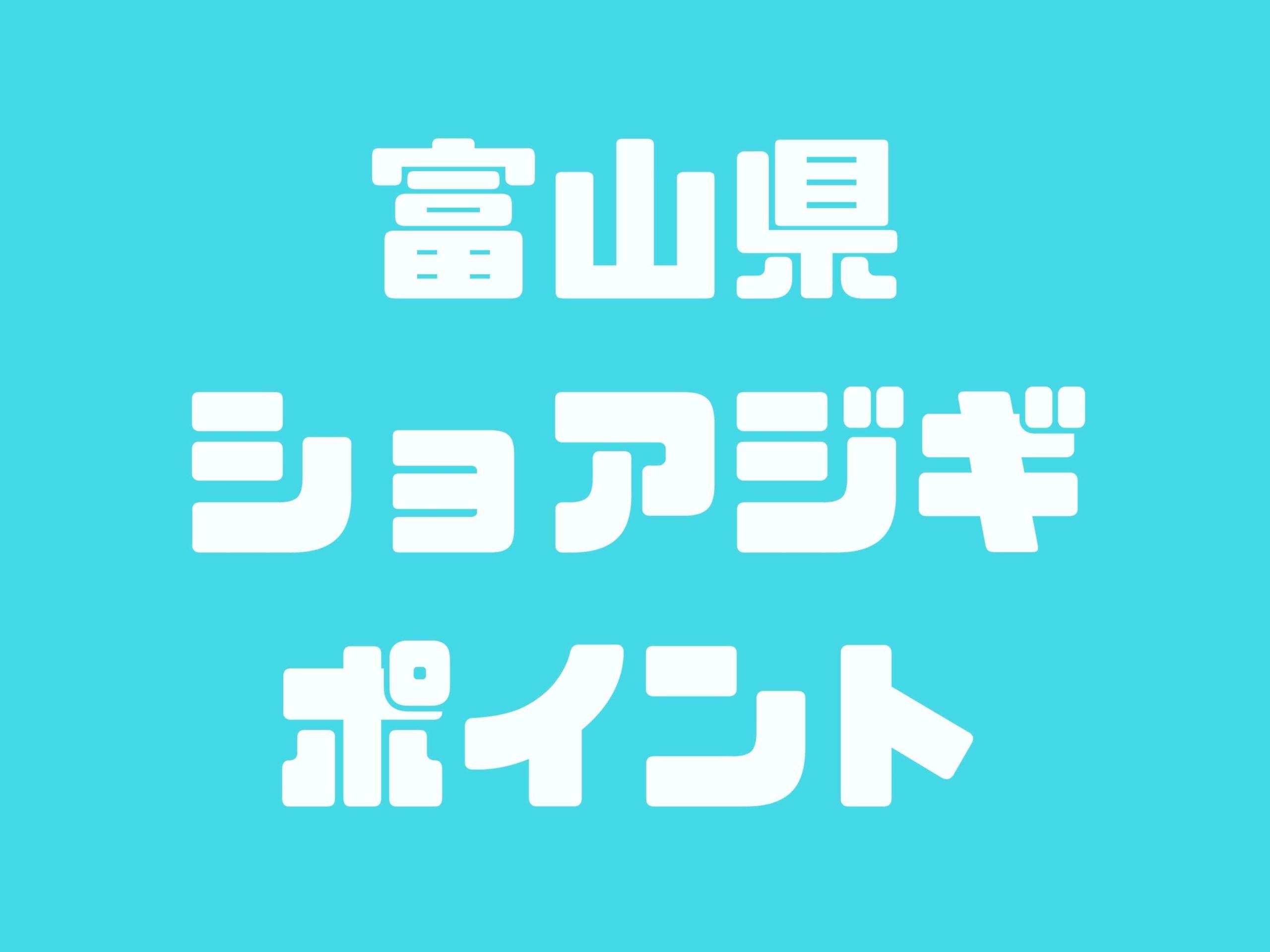 富山県ショアジギングポイント【フクラギ・ガンドポイント】