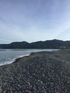 福井県佐田サーフでキス釣り