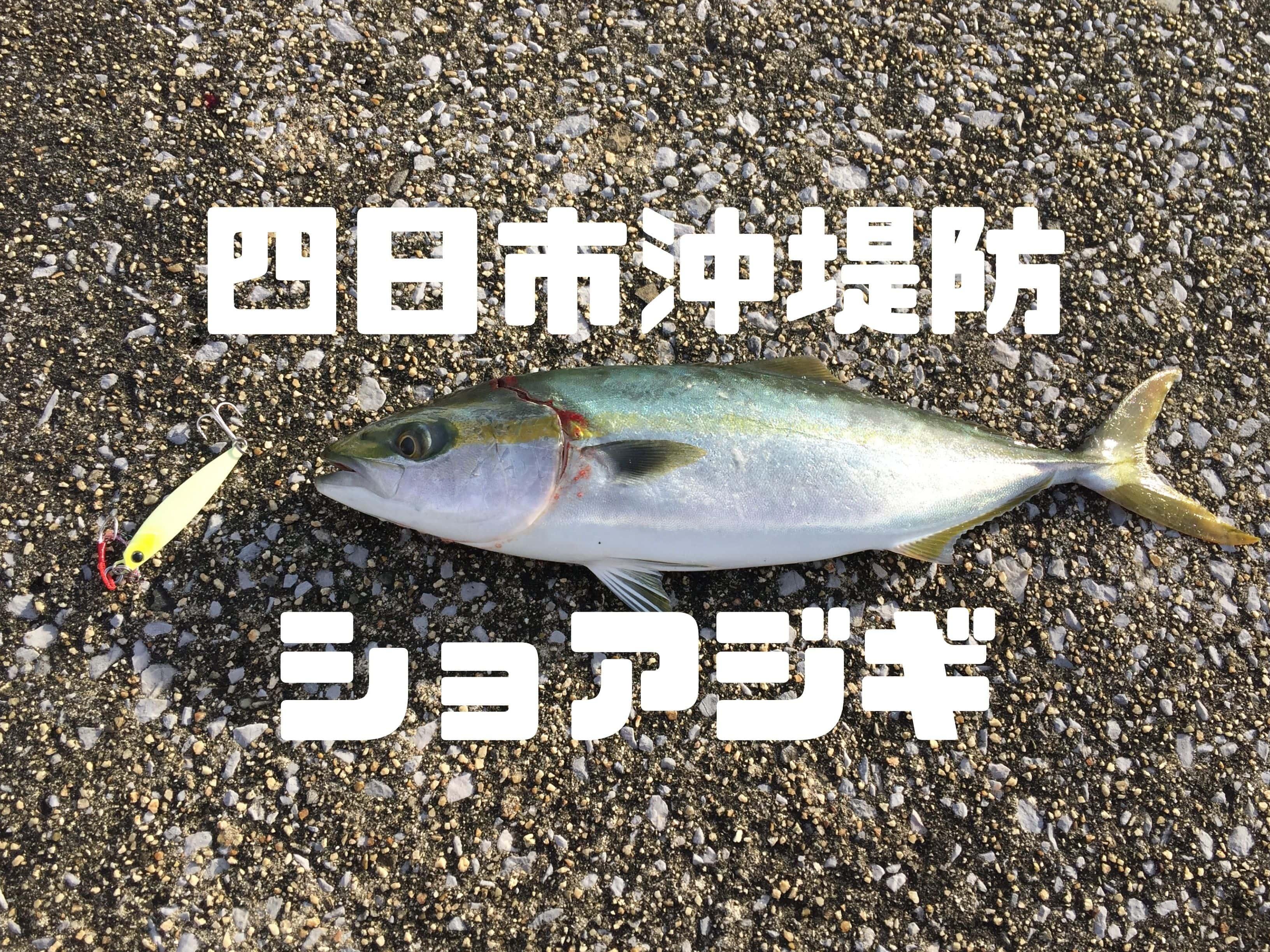 四日市沖堤防ショアジギング(サワラ・ブリ・ツバス)