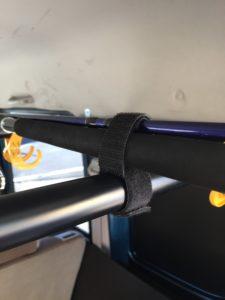 車載ロッドホルダーをイレクタ―パイプで自作したよ【ダイソーの洗濯バサミも使用】