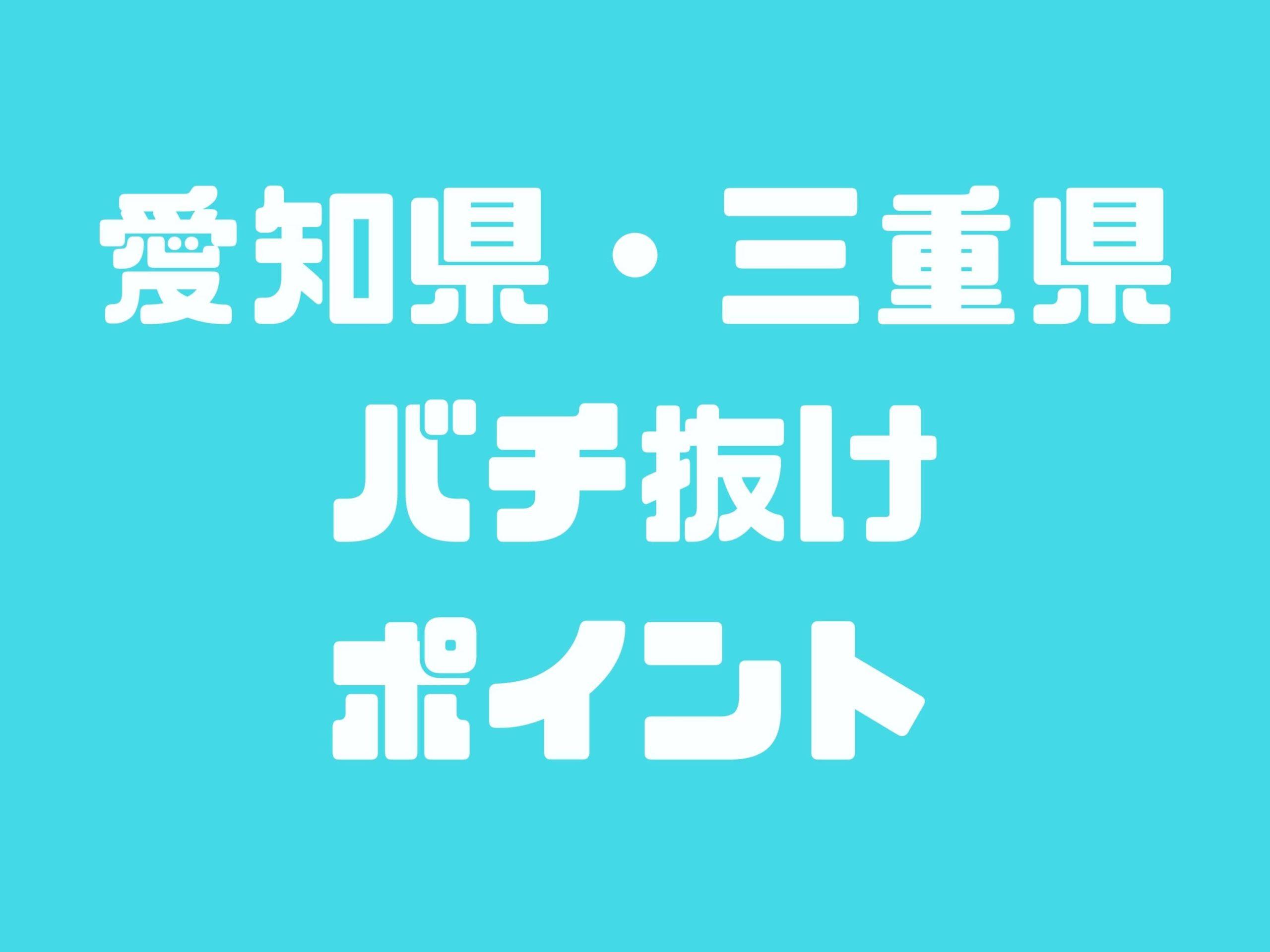 愛知県・三重県でバチ抜けでシーバスが釣れるポイント