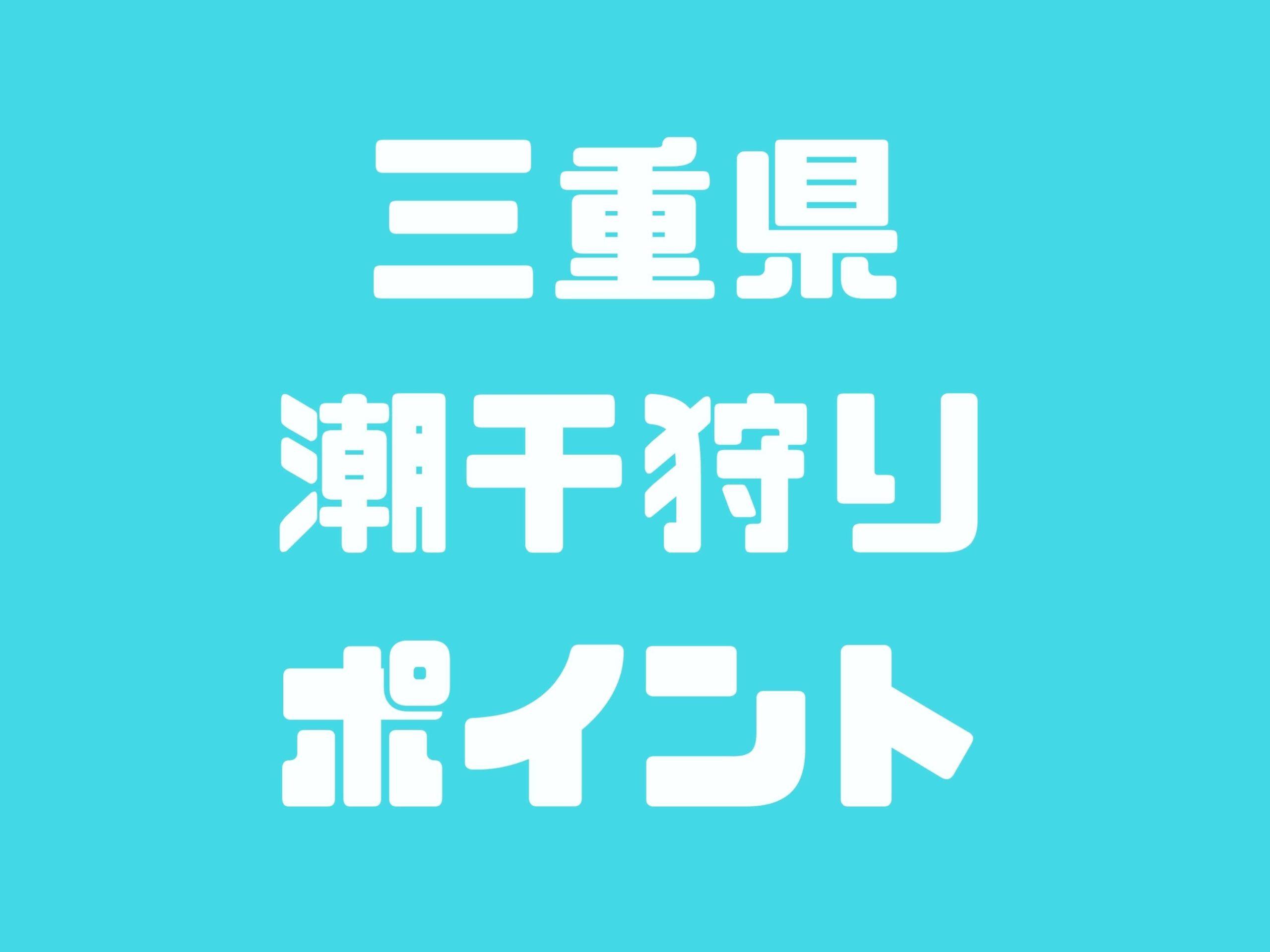 三重県の潮干狩りスポットをご紹介します