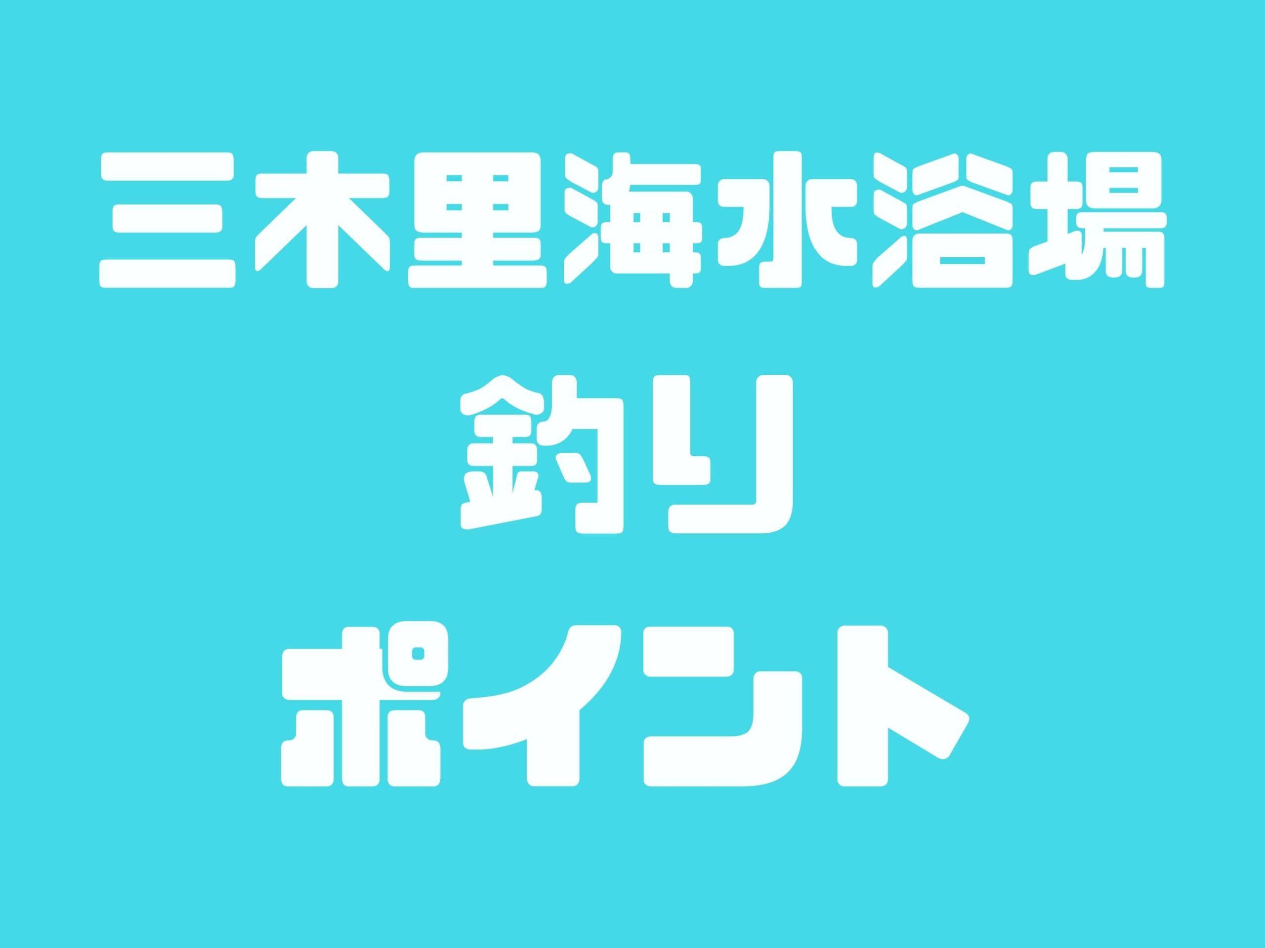 【三木里海水浴場】キス・チヌ・メッキが釣れるポイントです