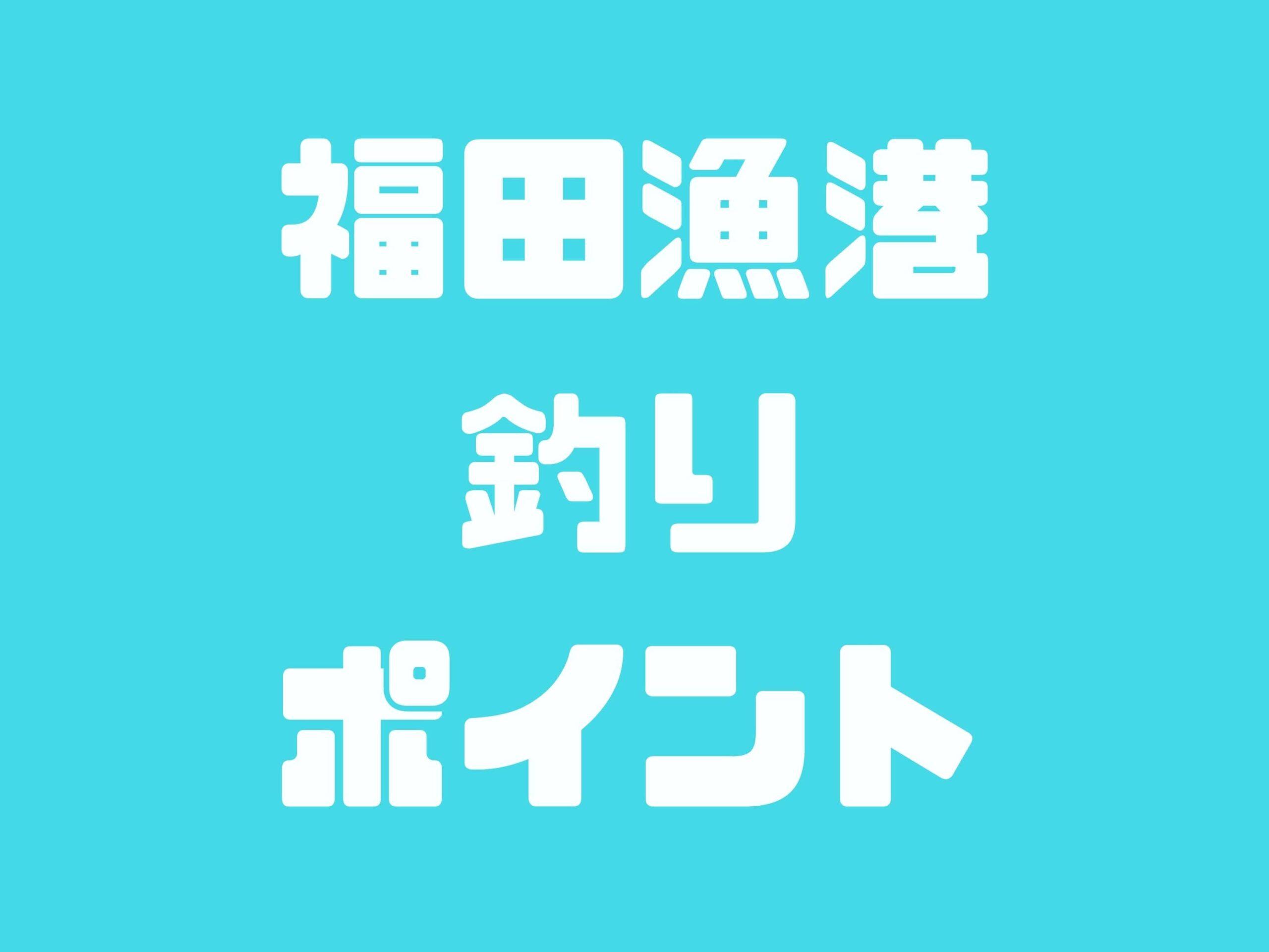 【福田漁港】チヌ・キス・アジ・ボラ・マゴチ・ヒラメが釣れるポイントです