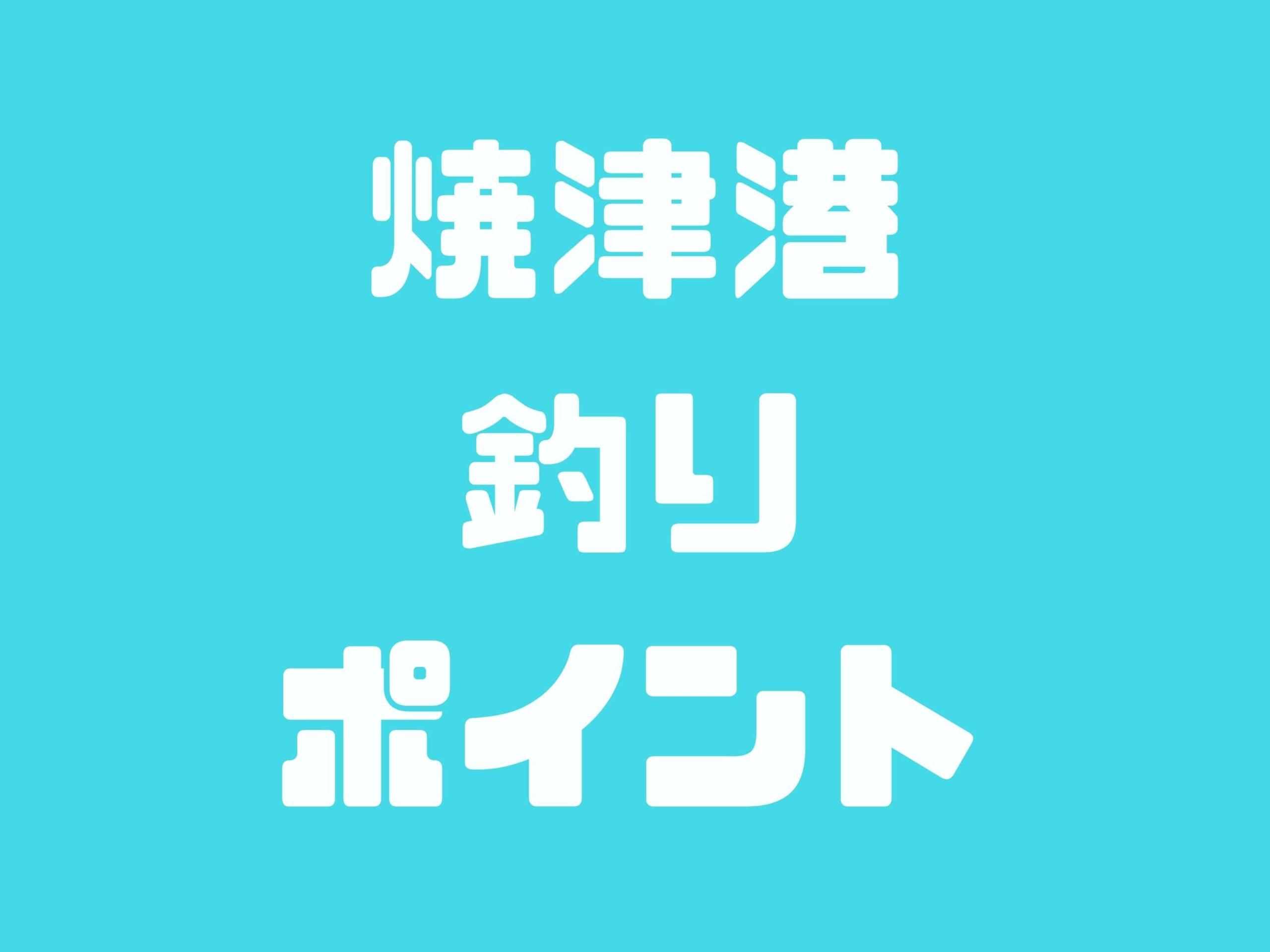 【焼津港】アジ・サバ・タチウオ・キス・ヒラメ・チヌ・グレ・青物が釣れるポイントです